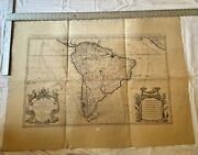 Hubert Jaillot Antique Wall Map 17th Century - South America 1785
