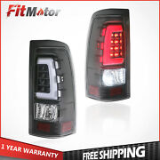Set Of 2 Rear Lamps Led Tail Lights For 99-02 Gmc Sierra 99-06 Chevy Silverado
