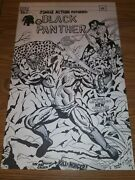 Black Panther Jungle Action 6 Recreation Cover. Rareone Of A Kind 22x14