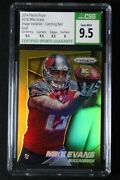 2014 Panini Prizm 216 Mike Evans Gold Catching Variation Rc Card /10 Csg 9.5