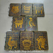 8 Ancient Chinese Warring States Period Bronze Gilt Books 8 Page 8 Piece Set