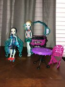 Monster High Doll Lot With Furniture. Used But In Excellent Condition