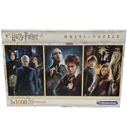 New Sealed Harry Potter Jigsaw Puzzles 3x1000 Pieces High Quality Clementoni