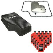 6r140 Transmission Service Kit And Ppe Brushed Deep Pan For 11-19 Ford F-250/f-350