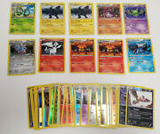 Lot Of 44 Pokemon Trading Cards Black And White Holo + Reverse