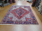 Old Heriz Rug Estate Lovely Carpet 7and0399and039and039 X 9and0396and039and039 Circa 1970s Rare Size