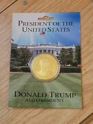 Presidential Challenege Coin Trump From White House Gift Shop
