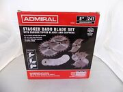 Brand New Admiral 8 24t Stacked Dado 14pc Blade Set 63904