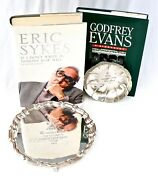 Eric Sykes And Godfrey Evans Silver Salver Snooker Trophy And Dish + Autograph Books