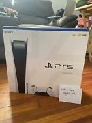 Sony Ps5 Playstation 5 Blu-ray Disc Game Console Unopened In Hand Ready To Ship