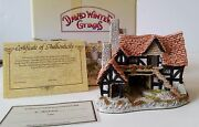 David Winter The Bothy Cottages In The Country House Collectible Coa 1983