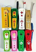 Nintendo Wii U Remote Controller Lot Of 7 Official Motion Plus Tested Mario