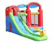 Inflatable Bounce House Or Water Slide Wet Or Dry With Sun Roof, Ball Pit 30 Bal