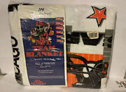 Vintage Chicago Bears Twin Full Size Blanket The Northwest Co. New Plastic Off