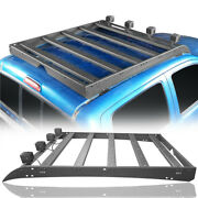 Top Roof Racks Baggage Luggage Carriers W/ 4x Lights For Toyota Tacoma 05-21 4dr