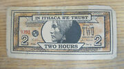 Ithaca Hours 2 Hour Local Currency Normal Size Note Cayuga