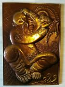 Old Vintage The Ussr Panno Chekanka The Gold Fish . Knocked On Metal