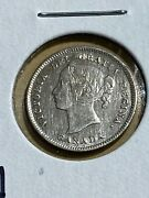 1892 Canada 5 Cents Silver Coin Low Mintage Cleaned