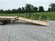 14and039 Aluminum Loading Ramp W/ Storage Box And Railing Military Army Trailer