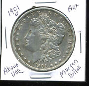 1901 O Au Morgan Dollar 100 Cent About Uncirculated 90 Silver Us 1 Coin 4999