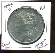 1883 O Au Morgan Dollar 100 Cent About Uncirculated 90 Silver Us 1 Coin 3945