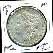 1879 P Au Morgan Dollar 100 Cent About Uncirculated 90 Silver Us 1 Coin 3985