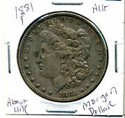 1881 P Au Morgan Dollar 100 Cent About Uncirculated 90 Silver Us 1 Coin 4347