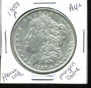 1888 P Au Morgan Dollar 100 Cent About Uncirculated 90 Silver Us 1 Coin 4981