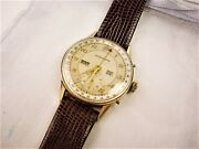 Movado Andldquocalendarandrdquo Date Month Day 14kt G.f.1950andrsquos Working Scarce Model