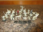 Dandd 30 Pewter Vtg Miniatures Ral Partha Rafm 80's Figures Dungeons Dragons Mix