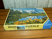 1986 New Sealed Ravensburg 1000 Piece Puzzle Snow Covered Mountain