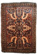 Handmade Antique Oriental Rug 2.1and039 X 3.2and039 64cm X 97cm 1920s - 1b817