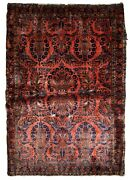 Handmade Antique Oriental Rug 3.5and039 X 5.5and039 106cm X 167cm 1920s - 1b829