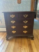 2008 Stickley Williamsburg Carters Grove Collection Mahogany 4 Drawer Nightstand
