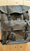 Swiss Army Rucksack Waterproof Rubberised 1980and039s Black Leather Straps
