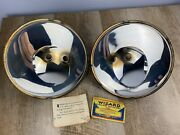 Set Of Wizard 1929 1930 1931 Ford Model A Two-bulb Headlight Reflector Set C-513