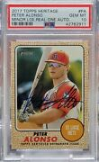 2017 Topps Heritage Peter Pete Alonso Real One Auto Psa 10 Gem Mint Mets