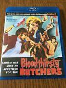 3x Andy Milligan Code Red Bloodthirsty Butchers, Torture Dungeon Man W/ 2 Heads