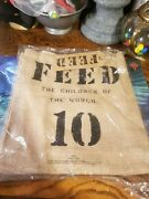Feed The Childern Of The World 10 Burlap Bag 100 Jute With Cotten Lining