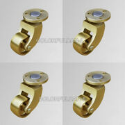 4pcs 1inch Brass Universal Casters Coffee Table Wheels Heavy Round Caster Wheels