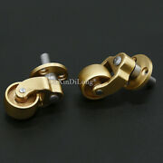 4pcs Furniture Brass Casters Table Sofa Furniture Runners Wheel Universal Roller