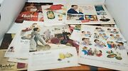 Vintage Beer Ads Lot Of 12 Magazine Prints Clippings 1940s, 1950s, 1960s, Life