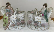 Vintage Porcelain Lady And Man Playing Piano Colonial Pristine. Made In Japan