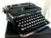 Royal Deluxe Typewritter Touch Control Chrome Trim 1937