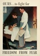 Norman Rockwell Original Freedom From Fear Poster From 1943