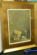 Vintage Signed Print Pushman Daughter Of The Rain God Framed As Pictured