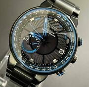 Citizen Satellite Wave World Time Eco-drive Gps Solar Mens Watch Auth Works