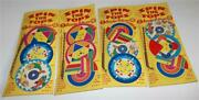 Vintage Spin The Tops Toys On Original Card Lot Of 4