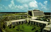 Vtg 1970and039s Wdw Walt Disney World The Contemporary Resort Monorail Post Card F