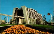 Vtg 1970and039s Wdw Walt Disney World The Contemporary Resort Monorail Post Card E